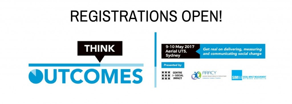 Think Outcomes conference 2017 – registrations open!