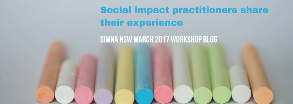 Social impact practitioners share their experience: SIMNA NSW blog