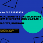 SIMNA QLD Event: Social Benefit Bonds – Lessons From the Front Line