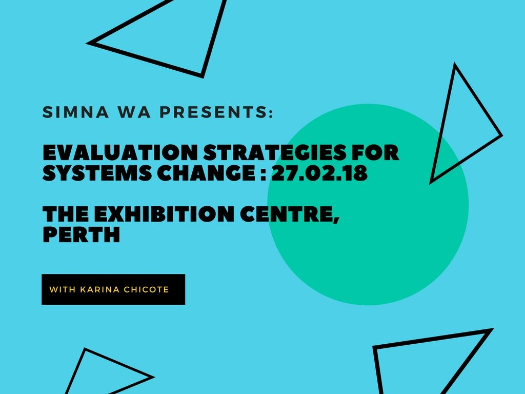 SIMNA WA Event: Evaluation strategies for systems change: The Youth Partnership Project