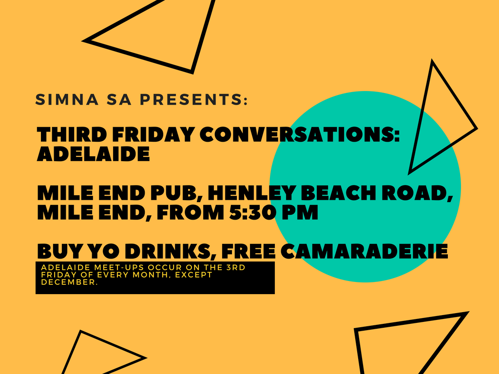SIMNA SA Event: Third Friday Conversations