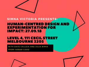 SIMNA VIC Event: Human-Centred Design and Experimentation for Impact