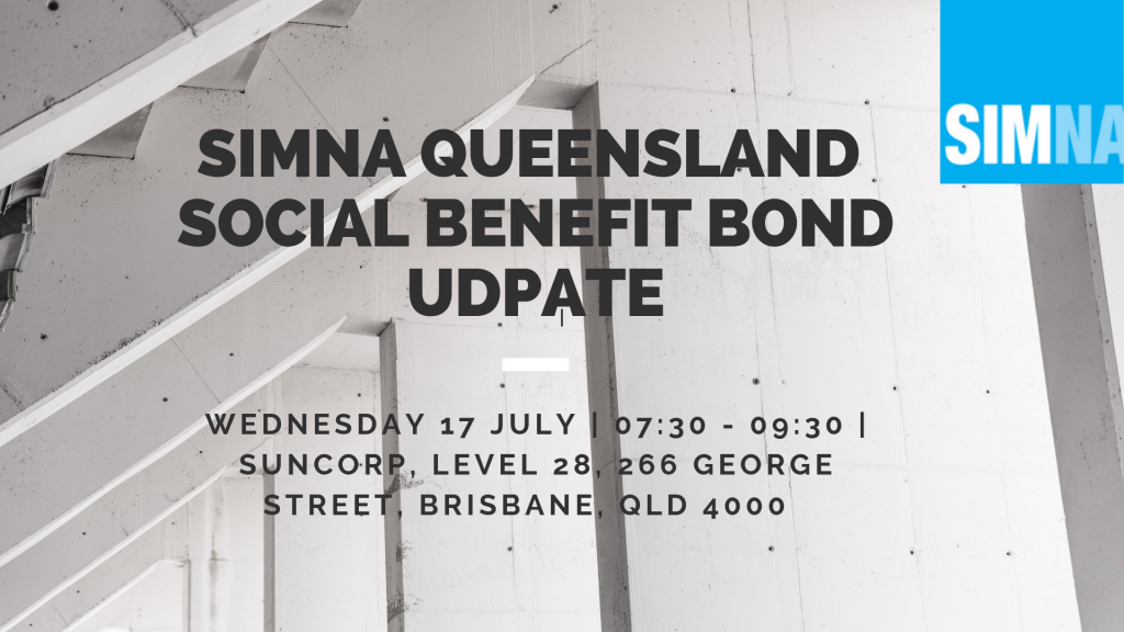 SIMNA QLD Event: Social Benefit Bond Update