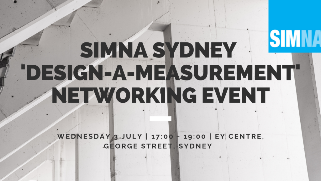 SIMNA Sydney Event: 'Design-a-measurement' networking event