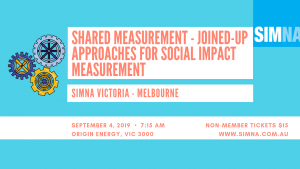 SIMNA VIC Event: Shared measurement – joined-up approaches for social impact measurement
